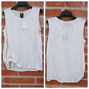 🆕Bobeau sleeveless with tie hem         N11